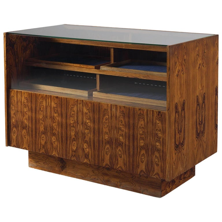Bookmatched Rosewood Danish Showcase