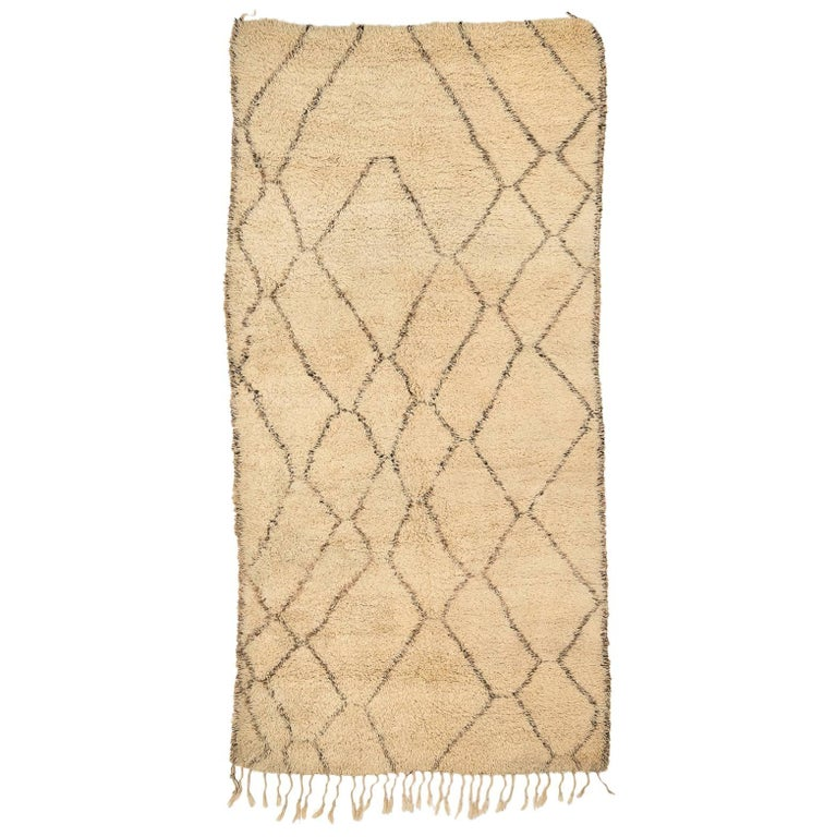 Classic Beni Ouarain Moroccan Vintage Rug