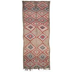 Outstanding Vintage Beni Mguild Flat-Weave Rug