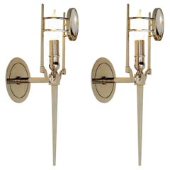 Pair of Wall-Sconces by Jonathan Browning, Mid-Century Modern