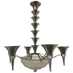 Art Deco Chandelier by Sabino Art Glass 'France'