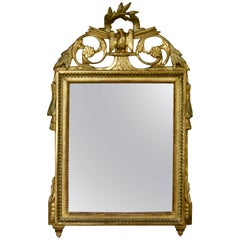 Louis XVI Period Trumeau Mirror with Eagle