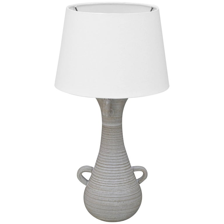 Chic Gourd Shaped Table Lamp with Custom White Parchment Shade