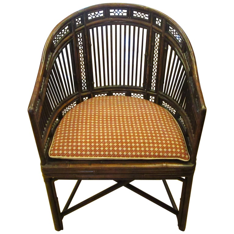 """Early 19th Century """"Brighton Pavilion"""" Style Bamboo Armchair"""