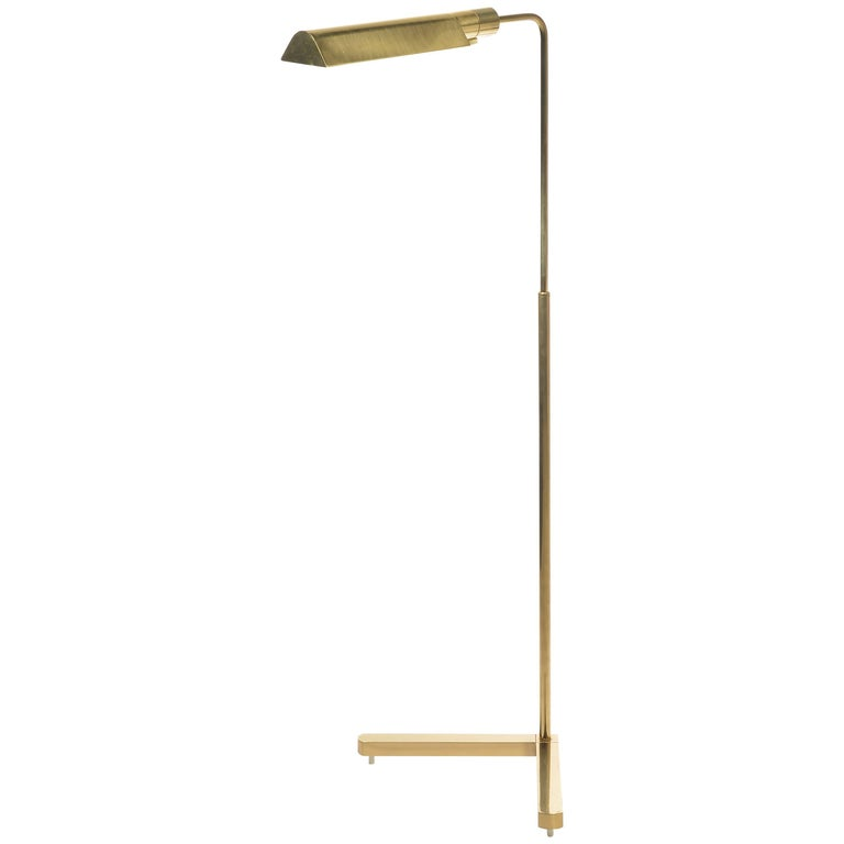 Brass Swivel Floor Lamp by Casella with V-Base