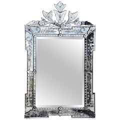 Large Acanthus Design Venetian Glass Mirror