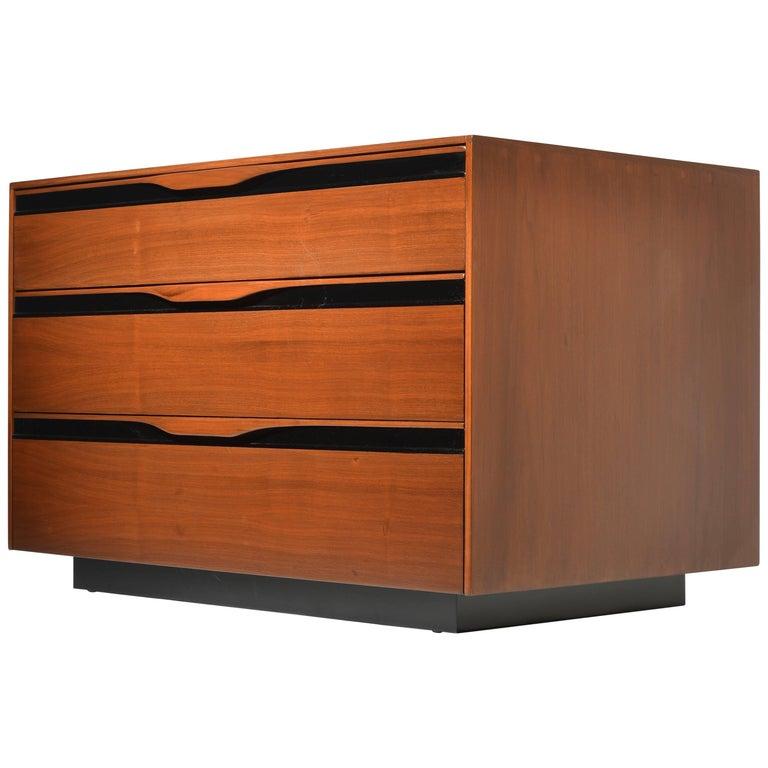 Walnut Three-Drawer Dresser by John Kapel for Glenn of California For Sale