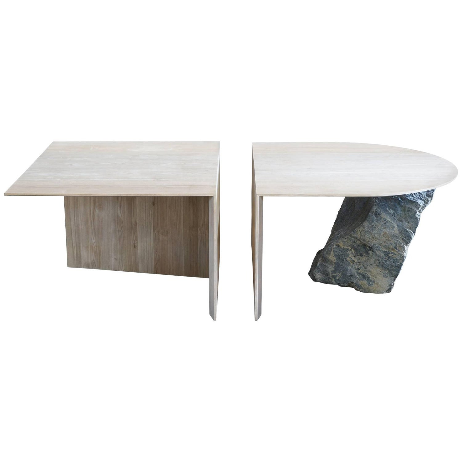 Missisquoi 01 Black Ash and Stone Coffee Table by Simon Johns