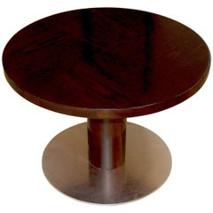 "Rare Variation ""Typenko"" Side/Coffee Table with Steel Base by Axel Einar Hjorth"