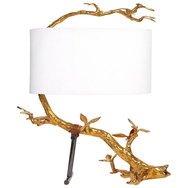 Kyoto Cast Brass Table Lamp 1