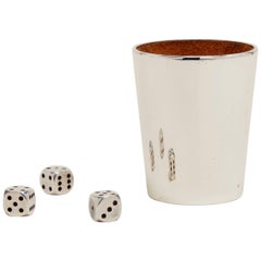 Sterling Silver Dice and Cup