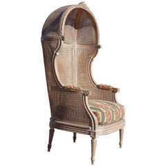 Louis XVI Style Caned Porters Chair