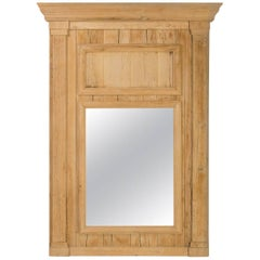 Trumeau Mirror in Natural Wood