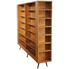 Oak Midcentury Separation Bookshelve