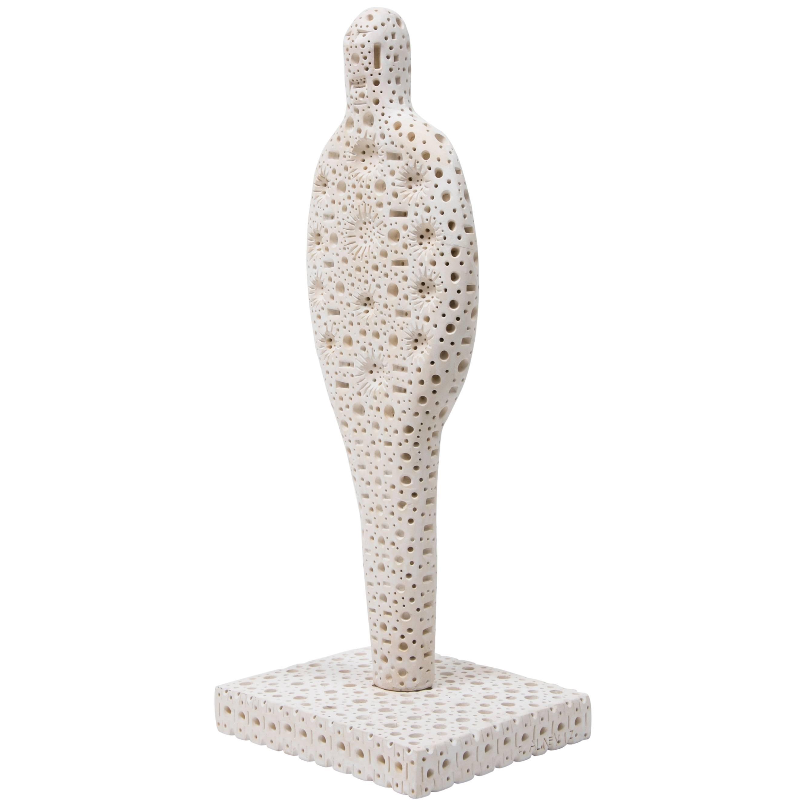 White Terracotta Sculpture by Alexandre Ney