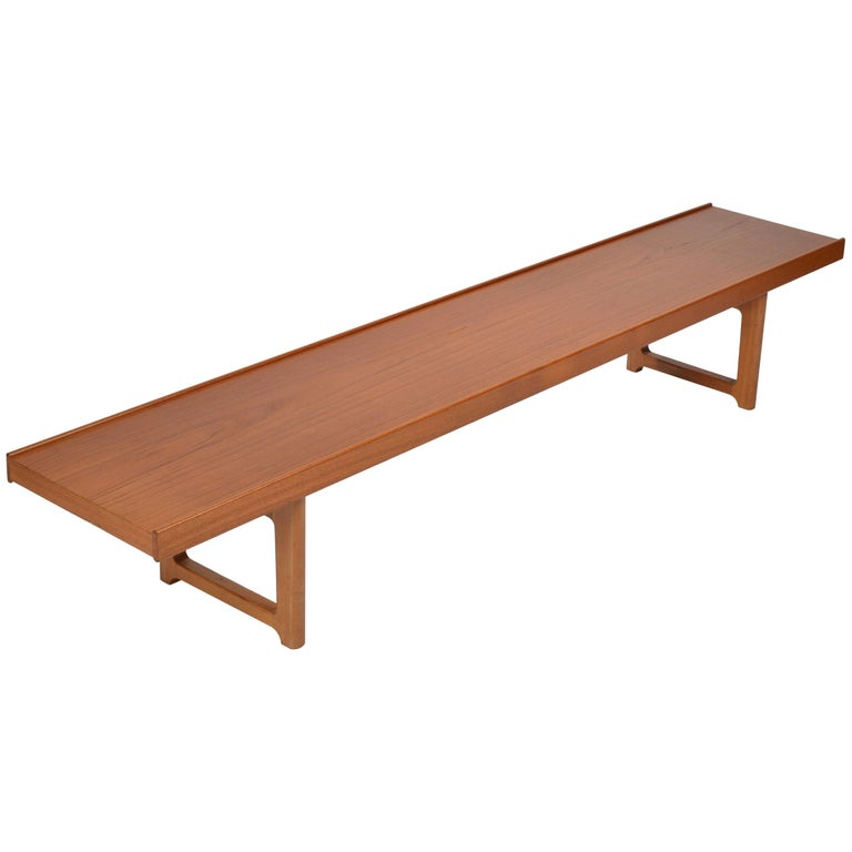 Long Teak Bench 'Krobo' by Torbjörn Afdal for Bruksbo