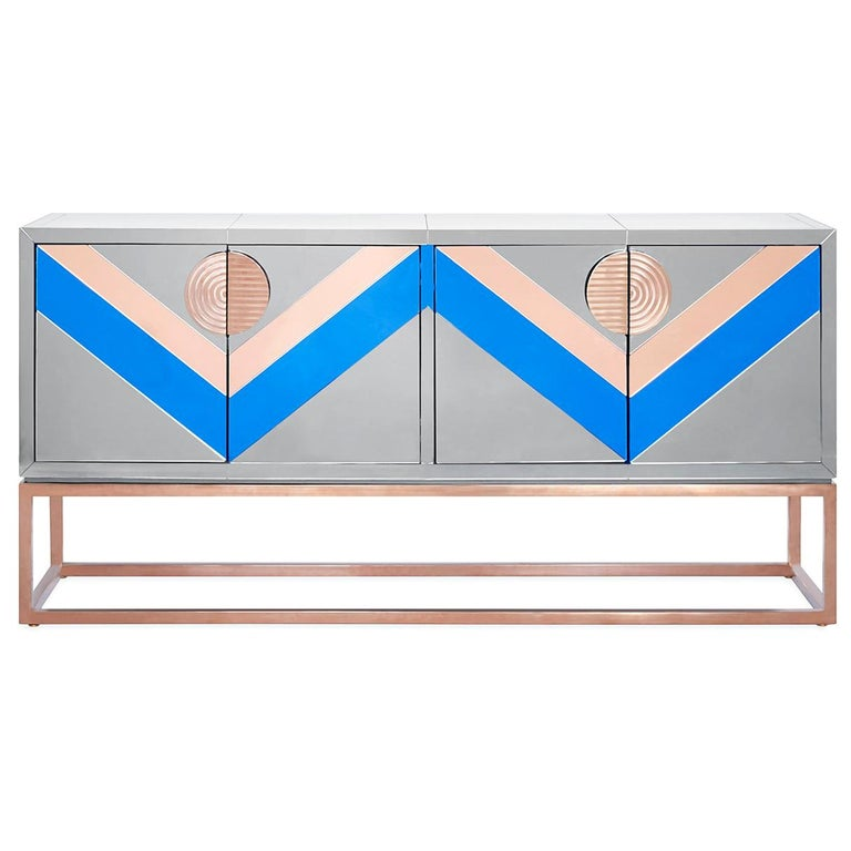 Nouvelle Mirrored Credenza 1