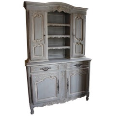 19th Century French Louis XV Buffet Vaisselier or Hutch / Cupboard