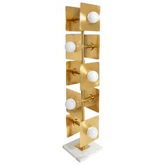 Puzzle Brass Floor Lamp