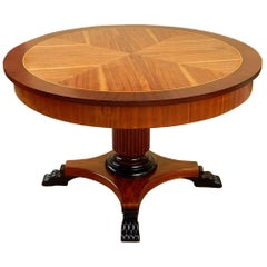 Swedish Art Deco Game Table in Walnut and Birch, circa 1930