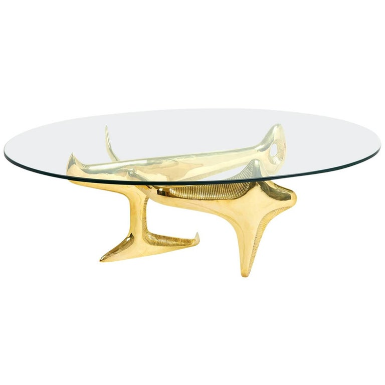 Reform Brass Cocktail Table