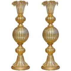 Pair of Mid-Century Modern Murano Lamps