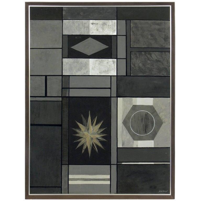 Geometric Mid-Century Modern Painting