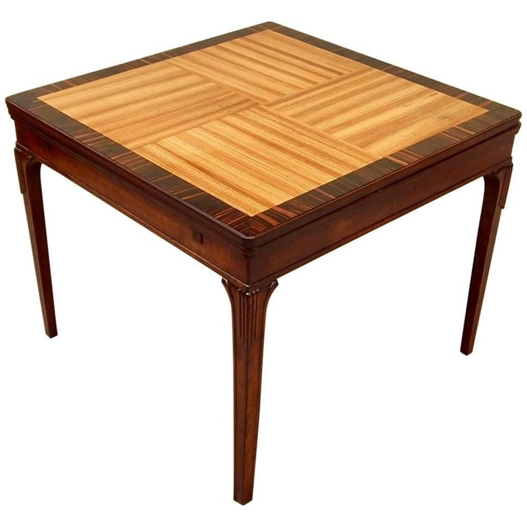 Swedish Art Deco Extendible Side Table by Eric Chambert, circa 1930 For Sale