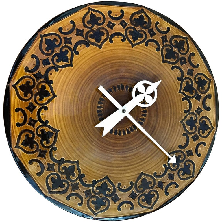 Rare Glaze Meridian Clock by Bitossi & George Nelson for Howard Miller
