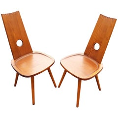 Pair of Brutalist Chairs
