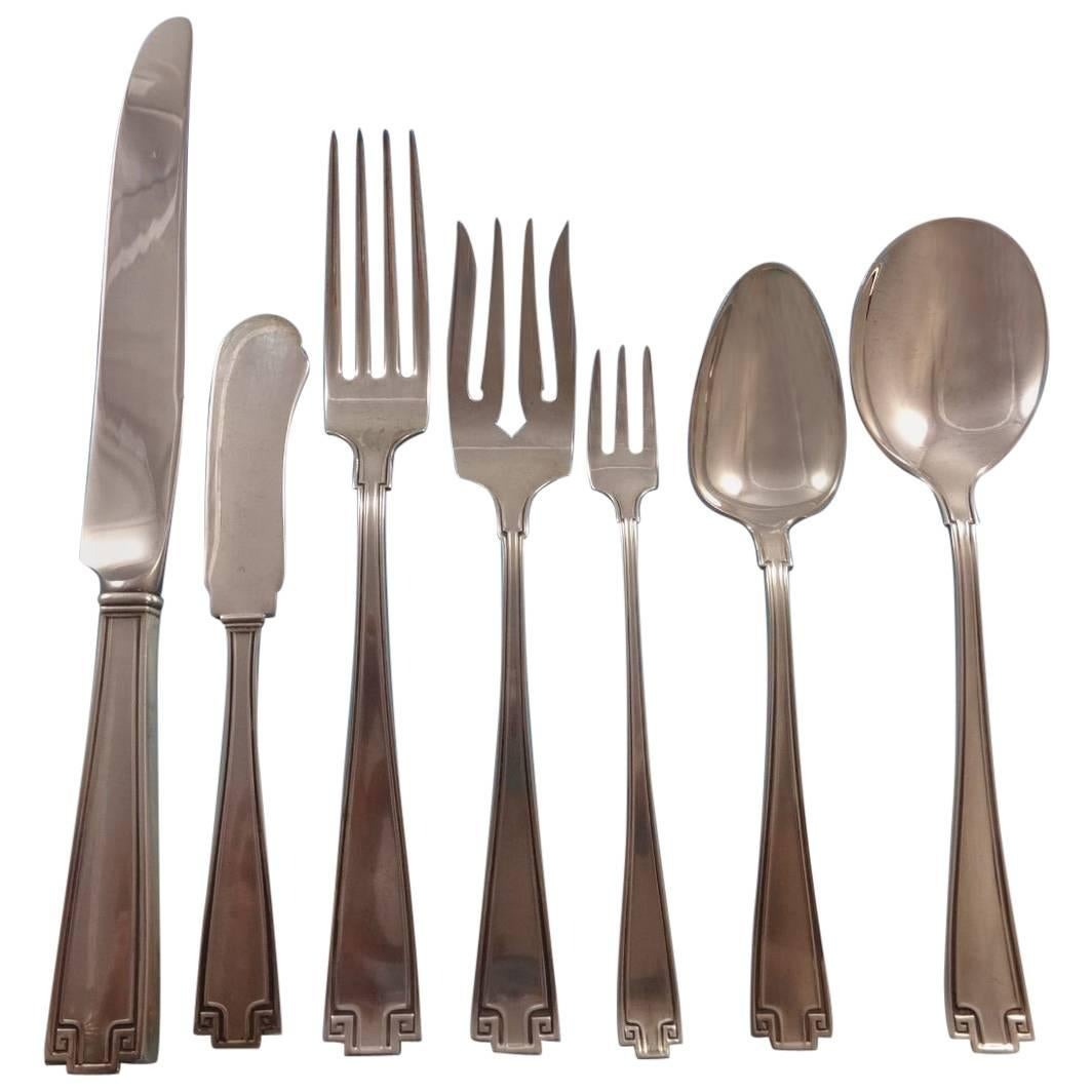 Etruscan by Gorham Sterling Silver Flatware Set for Eight Service 61 Pieces