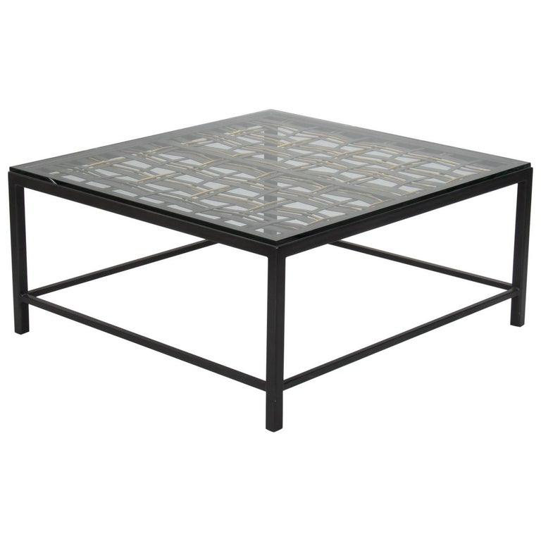 Custom Coffee Table Made From French Decorative Metal Grill For Sale At 1stdibs