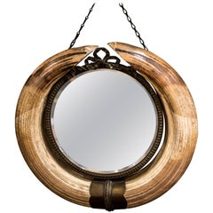 Art Nouveau Mirror with a Horns Frame