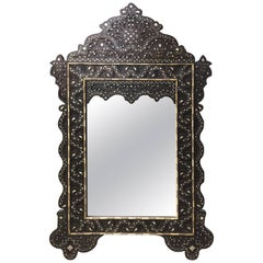 Syrian Mirror with Mother-of-Pearl Inlay