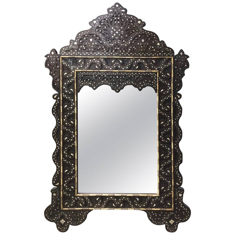 Syrian Mirror with Mother-of-Pearl Inlay Haskell Antiques