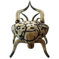 Rare Steer Horn Beetle Form Chair, 1910-1915