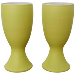 Pol Chambost Pair of Ceramic Mazagrans Midcentury France 1950s