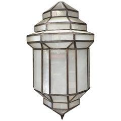 """Jaime"" Moroccan Milk Glass Modern Light"
