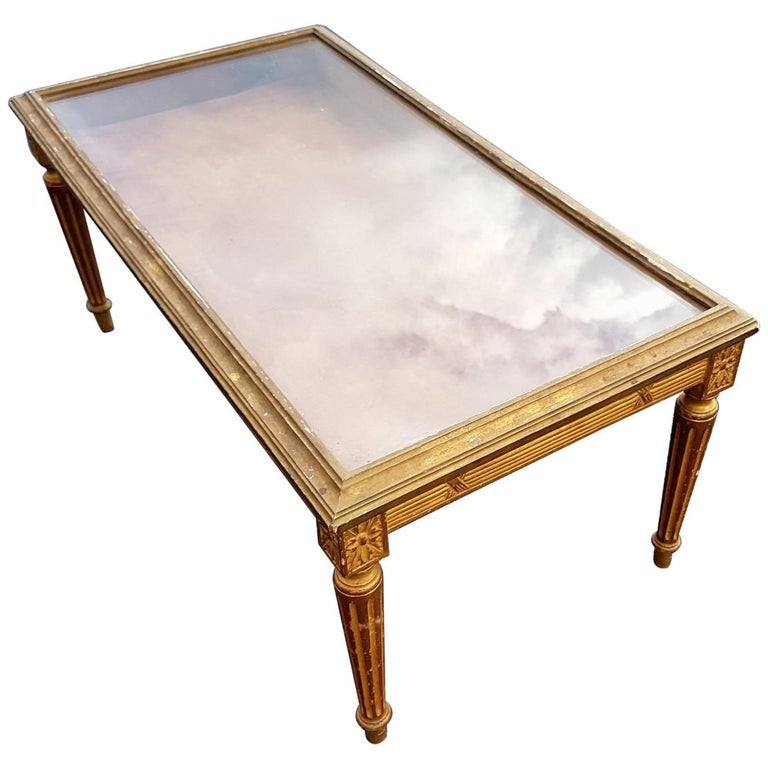 Gilt Display Coffee Table For Sale At Stdibs - Display coffee table for sale
