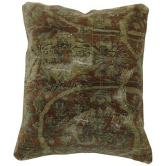 Persian Mohtasham Kashan Pillow with Lazy Lines