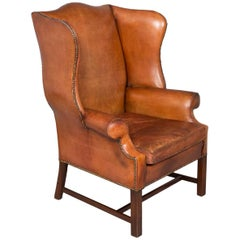 Handsome and Supple Leather Gentleman's Lounge Chair