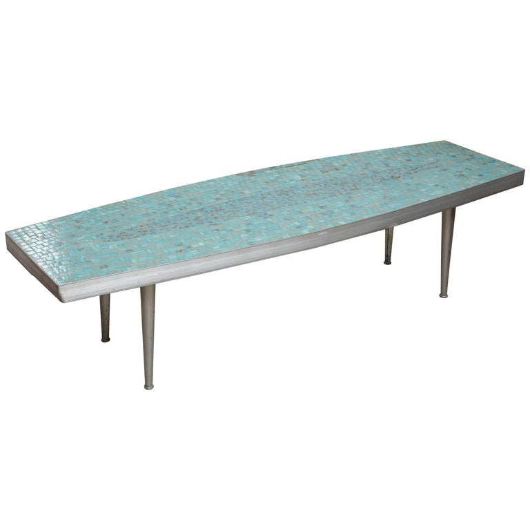 Fun Surfboard Style Tile Coffee Table, 1960s, USA