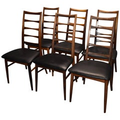 Niels Kofod Larsen Rosewood Dining Chairs, 1960s