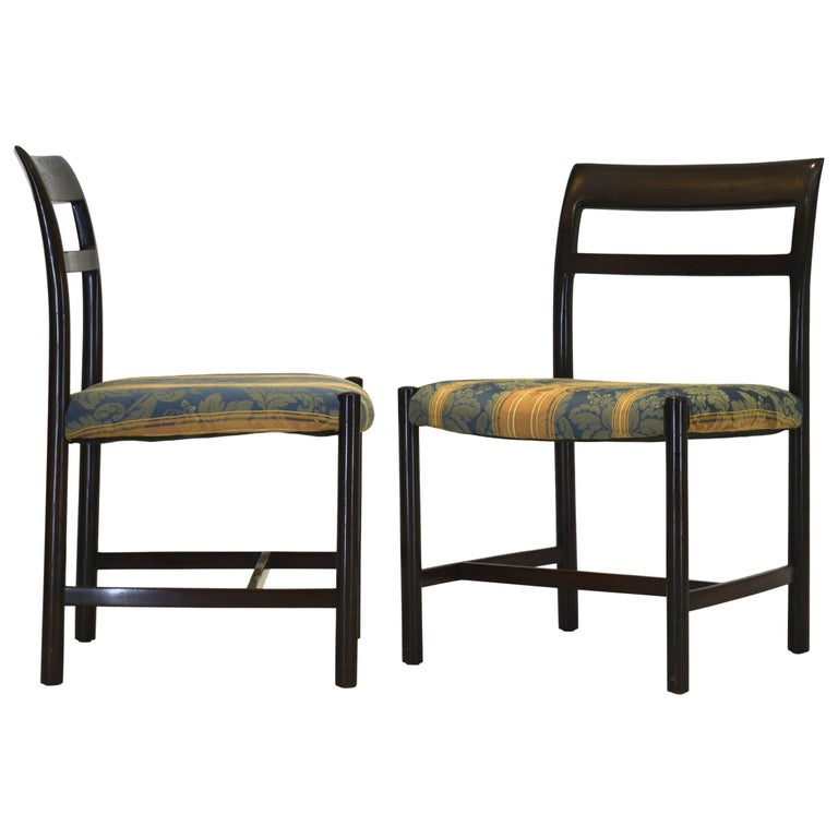 Pair of Large Chairs by Edward Wormley for Dunbar For Sale