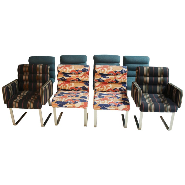 """Pace Collection """"Lugano"""" Dining Chairs by Mariani, Set of Eight"""