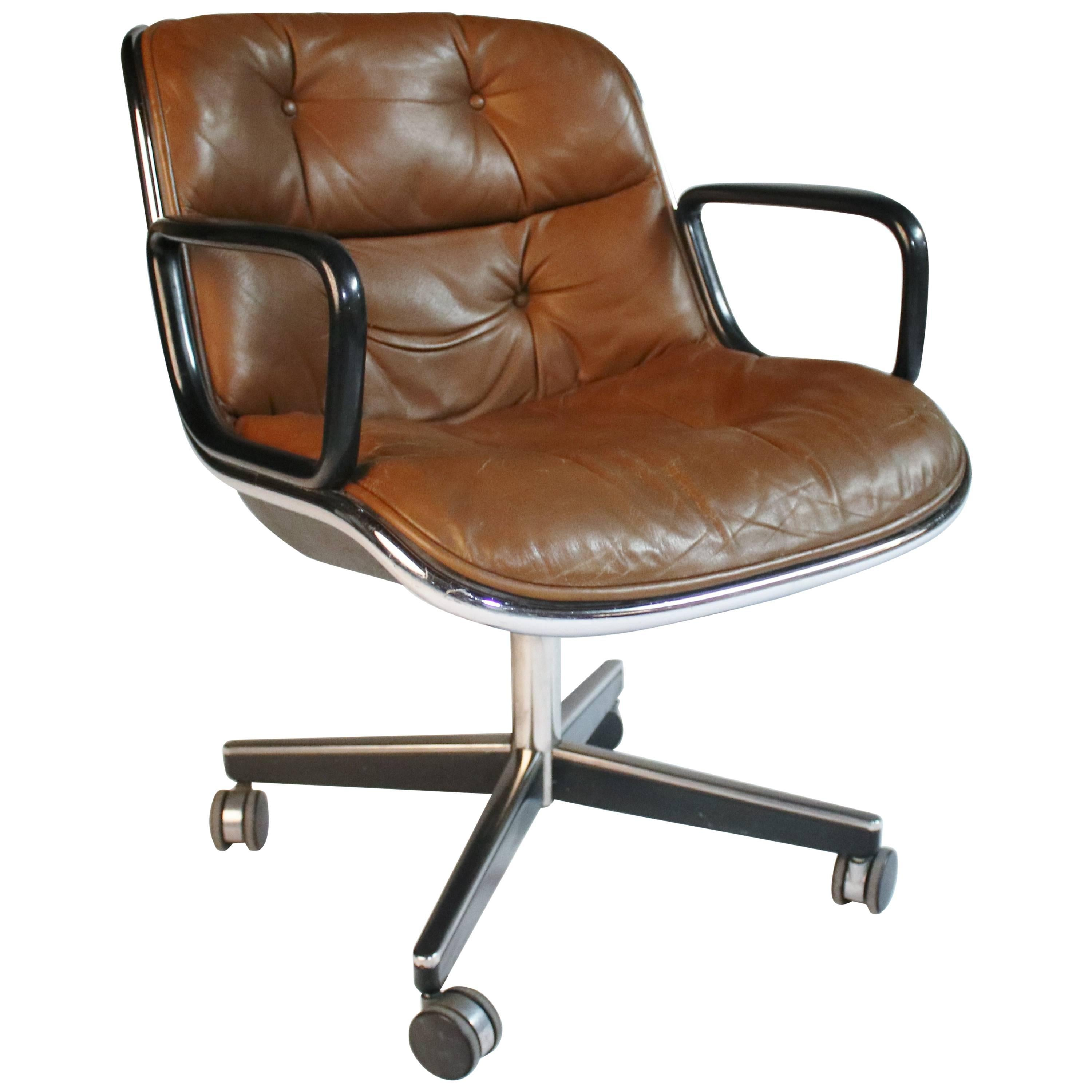 1970s Charles Pollack For Knoll Executive Desk Chair For Sale