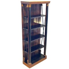 Regency Style Carved Mahogany and Giltwood Bookcase