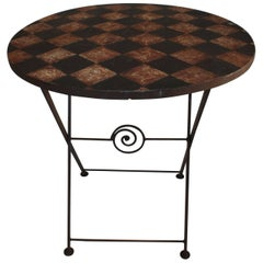 20th Century Painted Metal Patio / Garden Table