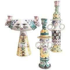 Bjorn Wiinblad Ceramic Vessels Vases