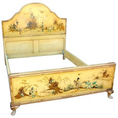 Early 20th Century Chinoiserie Bed Frame
